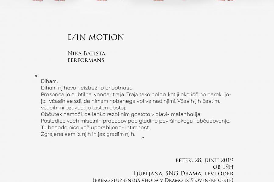 Nika Batista: E/IN MOTION